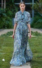 Luisa Beccaria Printed Georgette Maxi Dress