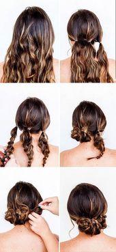 Schnelle, einfache Hochsteckfrisuren für langes Haar – #einfache #für #Haar #H