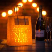 Happy New Year Party Decoration Paper Lantern Bag