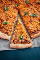 knusprige Tandoori Kichererbsen Dinkel Pizza Rezept   – Rezepte