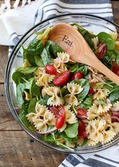 Salade de pâtes aux épinards   – babyshower