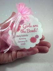 Shower Favors, Baby Shower Favors, SpaGlo Bath Bomb Favors, Personalized Baby Shower Favors – Leslie shower