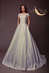 Satin Wedding Dress, Lace Wedding Dress, Simple Wedding Dress, Modest Wedding Dress, A line Wedding Dress, Corset Wedding Dress