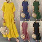 Women Long Sleeve Floral Print Kaftan Shirt Dress Oversize