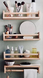 47 Charming Diy Bathroom Storage Ideas For Small Spaces – Everyone wants to have… – My Blog – Wohnen ideen