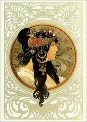 Premium-Poster Medaillon mit orientalischer Frau