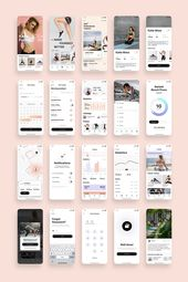 Super Woman Fitness App UI Kit