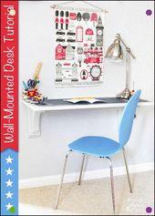 Wandmontage Schreibtisch Tutorial – Pretty Handy Girl