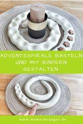 Einfach, minimalistisch und schick: Adventsspirale basteln und mit Kindern gestalten