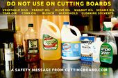 What Type of Oils are Safe to Use on Your Cutting Board