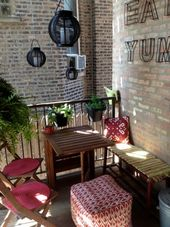 20 extremely creative design ideas to make a small balcony comfortable and stylish – Liz Smeaton