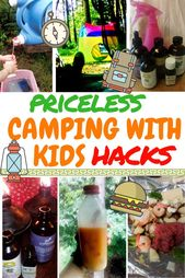 Familjetält Campinghackar och idéer för camping med barn