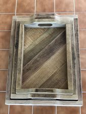 Re-Purposed Oak Pallet Serving Tray, Ottoman Tray, Coffee Table Tray