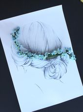 Whisper | delicate hair comb/ floral hair pins/ wedding flower crown/ bridesmaid crown/ flower crown/ spring wedding / bridal hair clips