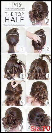 Coole und einfache DIY Frisuren The Top Half Qu #classpintag #Click #Cool #CU #clas -