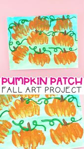 Pumpkin Patch Fall Art Project for Kids