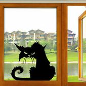 Details about Scary Black Cat Spooky Window Wall Laptop Vinyl Decal Sticker Decoration Funny