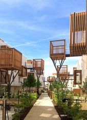 Tree house style freestanding balconies. Nice idea and interesting spaces by Viviene Gimenez Architecture