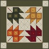 Log Cabin Quilt Pattern – Log Cabin Maple Leaves -…