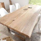 Tisch Massiver Baumstamm Mammut Akazie Massivholz Esstisch Holztisch K Chentisch Table Tennistable L Wood Dining Table Solid Wood Dining Table Dining Table