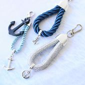 Maritime key rings and bracelets made of rope and weave cord! #mari …