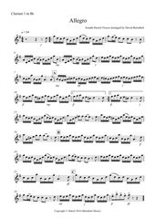 Allegro By Fiocco For Clarinet Quartet Sheet Music Digital Sheet Music Quartet