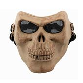 Chief Full Face Masks Cosplay Facial Mask Halloween Masks Skull Mask Scary Mask Skeleton Mask Halloween Accessories with Metal Mesh Eye Protection for Outdoor CS, Hunting, Army Tactical, War Game