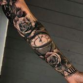 Tätowierungen für Männer, Handgelenks-Tätowierung, Handgelenk-Rosentätowierung, Handgele… – Tattoo