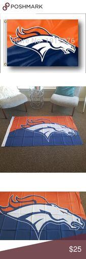 Denver Broncos 2 Tone Wall Banner Flag New F28 Banner/Flag New in sealed packagi…