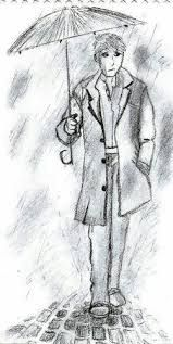 Imagen Lluvia Dibujos Arte De Paraguas Lluvia
