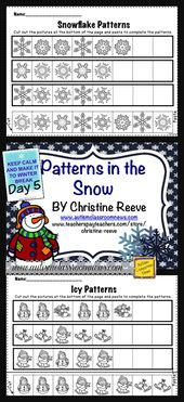 Day 5 of the eight Day Countdown to Winter Break–Winter Patterning Freebie