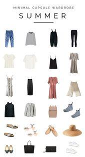 A minimal summer time capsule wardrobe