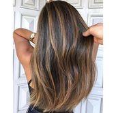 Haarfarbe schokoladenbraun mit blond 32 neuen Ideen