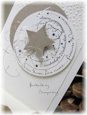 Baby Cards Weihnachtskarte mit selbst entworfenem Stempel