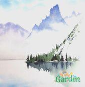 Bild-Ergebnis für vereinfachte Aquarell Berge #watercolorarts #WatercolorartI