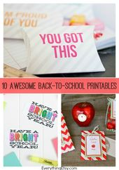 10 Awesome Back-to-School Printables