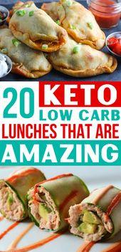 ¡Tantas ideas fáciles para el almuerzo keto! ¡Ahora tengo las MEJORES recetas de almuerzo bajas en carbohidratos! Soy s…