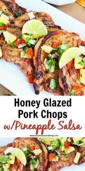 Honey Glazed Pork Chops with Pineapple Salsa