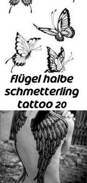 Flügel halbe schmetterling tattoo 20