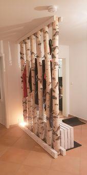 Traumhafte Garderobe aus Birke