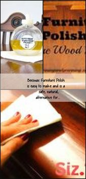 Beeswax Furnishings Polish is straightforward to make and is a protected, pure, various for…,  #diyfur…