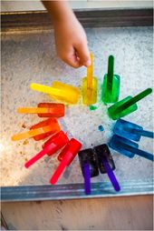 Easy Science Experiment – Ice Cube Painting #scienceexperimentsforpreschoolers Easy Science Experime…