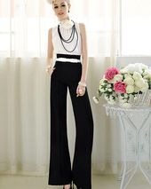 Sexy Fashion Women Casual High Waist Flare Wide Leg Long Pants Palazzo Trousers #MensFashionEdgy