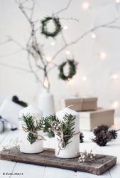minimale skandinavische Weihnachtsdekoration   – Ideen für Weihnachtsdekoration