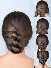 Haare zusammenknoten und fertig? Fast so einfach lässt sich diese schöne Frisu… – DIY Haare