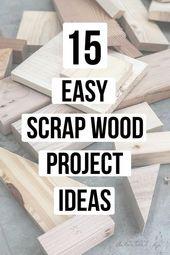 Lieben diese! Tolle Sammlung einfacher DIY-Schrottprojekte und -ideen! Kleine P …