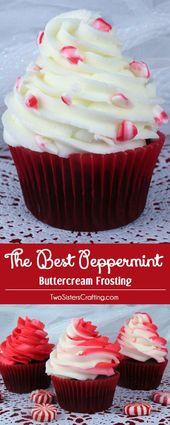El mejor glaseado de crema de mantequilla de menta. Creemos que sabe a mantequilla …   – cupcake recipes ideas