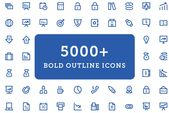 Ad: 5000+ Bold Outline Icons Bundle by Vectors Market on Creative Market. Alright, designers! Your every wish has been answered! Here is a collection …