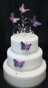 purple butterfly wedding cake by caketasia, via Flickr ...