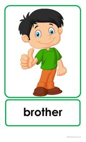 Family Flashcards worksheet – Free ESL printable worksheets made by teachers – kinder